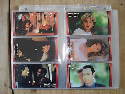 Star Trek Insurrection 72 Complete Base Set Cards