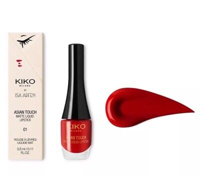 Kiko Asian Touc Matte Liquid Rossetto Liquido Mat Alta Coprenza 01 Plushy Red