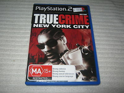 TRUE CRIME NEW YORK CITY Sony Playstation 2 PS2 Game PAL