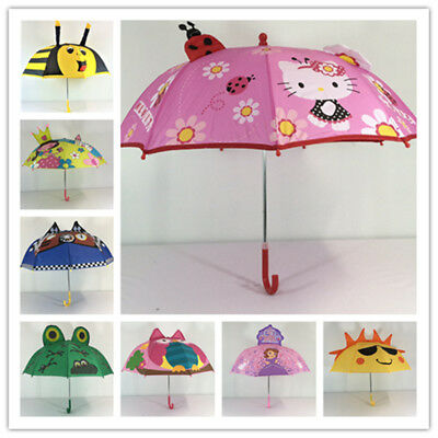 chridren's Kid's Umbrella 3D Hello Kitty Frog Sunny Sofia 73cm Rain Raincoat Boy