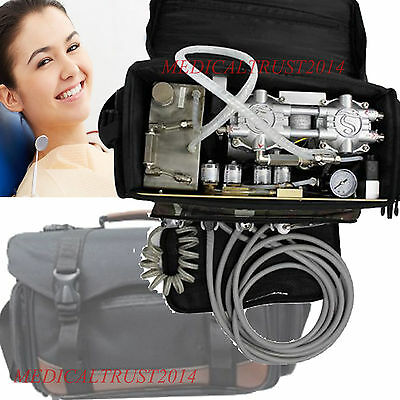dentist use BLACK Bag Dental turbine Unit Air Compressor Suction+Syringe 4 hole