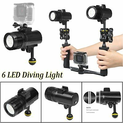 Underwater Flashlight Diving Light Photography Video Light For GoPro Hero 6 5 4