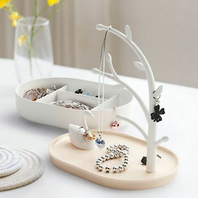 Swan/Cat & Tree Stand Jewelry Display Necklace Earring Bracelet Holder Organizer