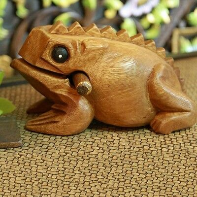 Carved Croaking Wood Percussion Musical Sound Wood Tone Block Toy S8B8