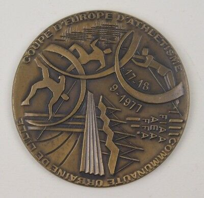 medaille sportive bronze COUPE D'EUROPE ATHLETISME LILLE 1977