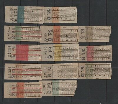 Newcastle Nsw 1945 13 Bus Colour Tickets $30