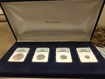 "Binion Collection 4-Coin Uncirculated ""Blue"" Type Set W/Original Box"