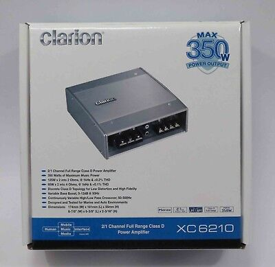 Clarion XC6210  350W 2/1-Channel Power Amplifier