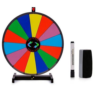 """24"""" Editable Dry Erase Color Prize Wheel of Fortune Spinning Game Tradeshow EK"""