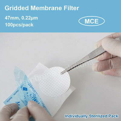 100x MCE Gridded Membrane Filter 47mm, 0.22μm, for microbiology analysis
