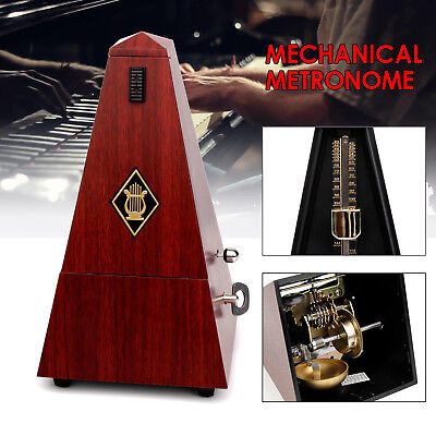 Antique Mechanical Metronome Wind Up Musical Tempo Timer  for Piano Guitar Bass