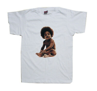 Notorious BIG Ready To Die Cover - White t Shirt Biggie Baby Shirt