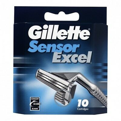 Gillette Sensor Excel Blades Refill 10 pack  Made In Polland New & Sealed