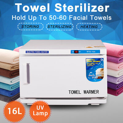 16L UV Towel Sterilizer Warmer Heater Cabinet Disinfection Hotel Salon Spa Comme