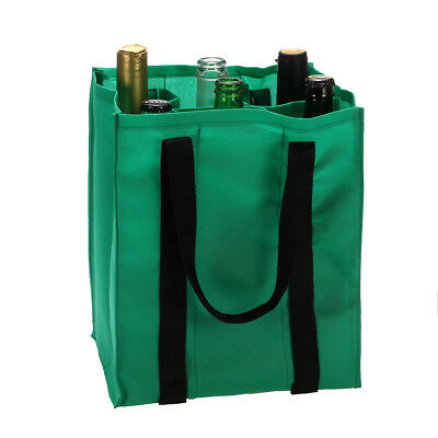 6 Bottle Wine Beer Carrier Case Bag Portable Party Picnic Drink Storage Handbag