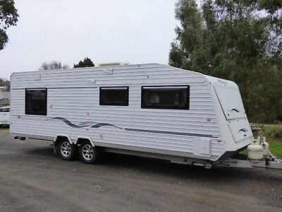 Caravan 25ft Roma Elegance 6/2011 Luxurious Leather Lounge Shower WM ROA Rego!!