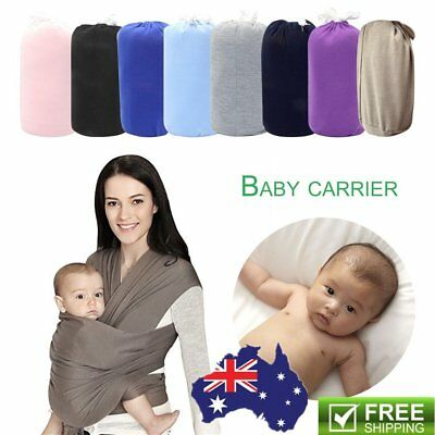 Infant Baby Sling Stretchy Adjustable Wrap Carrier Newborn Breastfeeding Pouch M