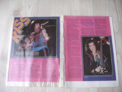 KISS Hit Parader Bericht 1984 - Ready For Action - New Album Animalize