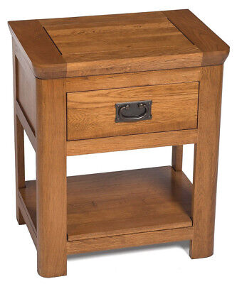 Solid Oak Side Table | Wooden End/Lamp Table | Bedside Cabinet | Nightstand