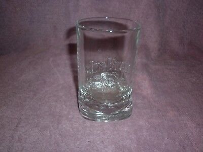 Jim Beam Glass Kentucky Straight Bourbon Whisky Heavy Old Collectable Unused