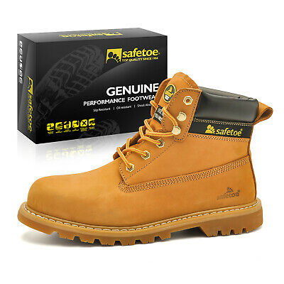 7d073182005 Safetoe Mens Safety Boots Work Shoes Extra Wide Steel Toe Rubber Sole  M-8173 US