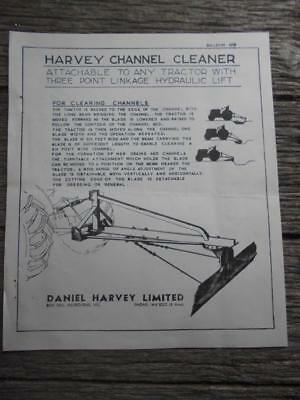 C 1950 Daniel Harvey Drain Channel cleaner tractor machinery Box Hill flyer