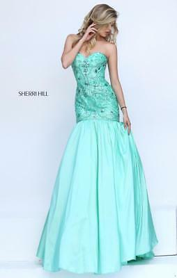 Sherri Hill 50136, Coral,Pageant,Prom,Sweet 16, Quincenera, Evening,Mermaid NWT