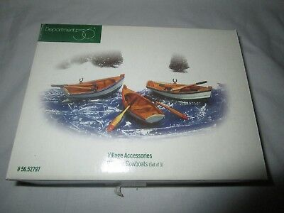 Dept 56  Wooden Rowboats ~ Mint In Box 52797