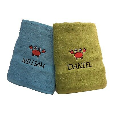 Personalised Embroidered Kids Towel Luxury Swim Sport Bath Children Gift