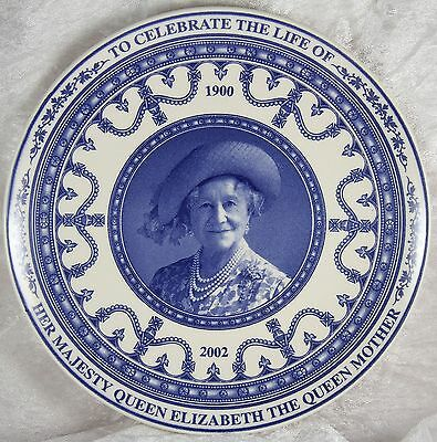 Wedgwood blue china plate 8.5 inches across celebration of Queen Elizabeth I