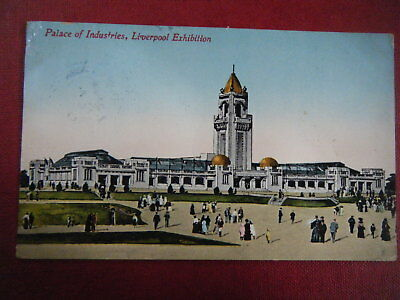 Liverpool Exhibition, 1913: Palace Of Industries - Scarce Coloured Postcard!