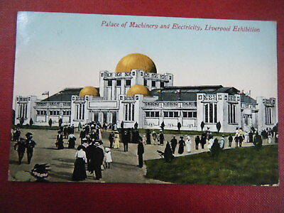 Liverpool Exhibition, 1913: Palace Of Machinery - Scarce Coloured Postcard!
