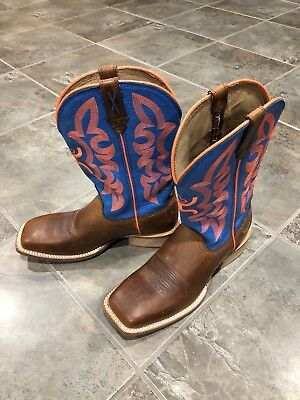 7251ace678bf3 TWISTED X MENS SZ 7 D Hooey Neon Blue Square Toe WESTERN BOOTS Cowboy  Square Toe