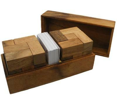 Soma Cube Double With Playing Cards Wooden Puzzle