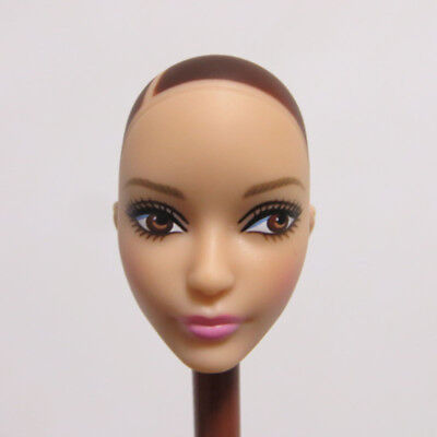 Head for Barbie Doll without Hair DIY Doll Body Part 1pcs Soft Head for Barbie
