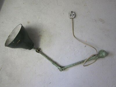 Original angled Industrial factory machinist Lamp Light Antique Vintage