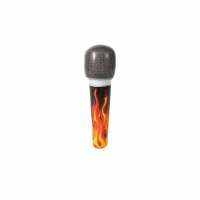 ** INFLATABLE FLAME MICROPHONE 20.3CM NEW ** MUSIC PROP PARTY FANCY DRESS
