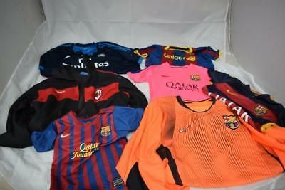 Job Lot Of Official Mixed Foreign  Football Shirts Real Madrid Barcelona & More