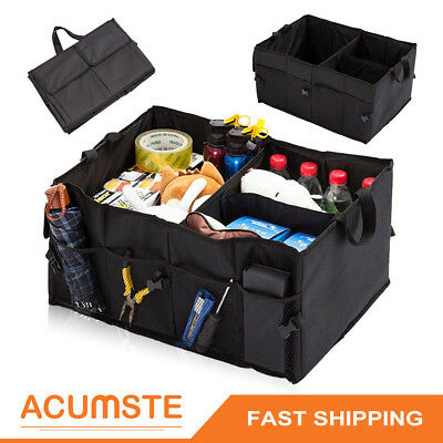 Car Trunk Organizer Foldable Storage Box Collapsible Auto Cargo Bag SUV Camping