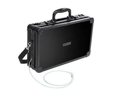Vaultz Locking Handgun Case, 10 x 3.5 x 14.5 Inches, Black (VZ00408)