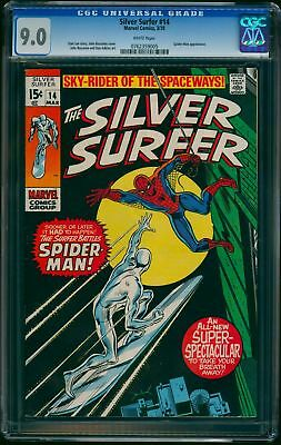 Silver Surfer #14 CGC VF/NM 9.0 White Pages