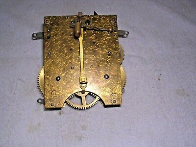 CLOCK  PARTS ,  BRASS  CLOCK MOVEMENT ,  G W O  s