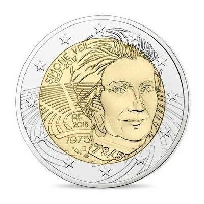 2 euro commémorative France 2018 - Simone Veil