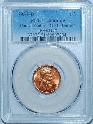 1951 D PCGS UNC Details Red FS-101 DDO Doubled Die Obverse Double Lincoln Cent