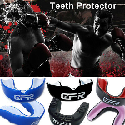 Gum Shield Mouth Guard Case Teeth Senior Boxing Fighting Rugby Martial Arts