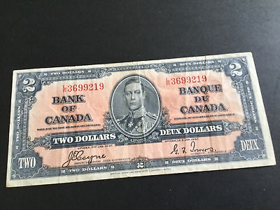2 Dollar Canadian Banknote Coyne & Towers 1937 series