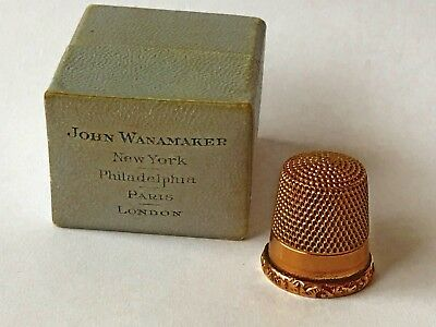 Antique Victorian Solid 10K  Gold Sewing Thimble New York Rare
