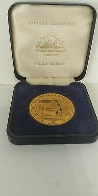 Wow Vintage Tower Mint London Cunard Countess Solid Bronze Commemorative Piece
