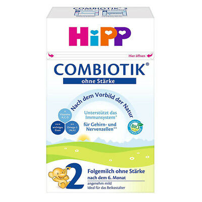 6 x HIPP 2 Starch-free Organic Combiotic Infant Formula Milk New from Germany