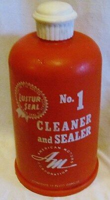 Rambler Luster Cleaner & Sealer Car Care Chemical: Full Bottle From The Sixties